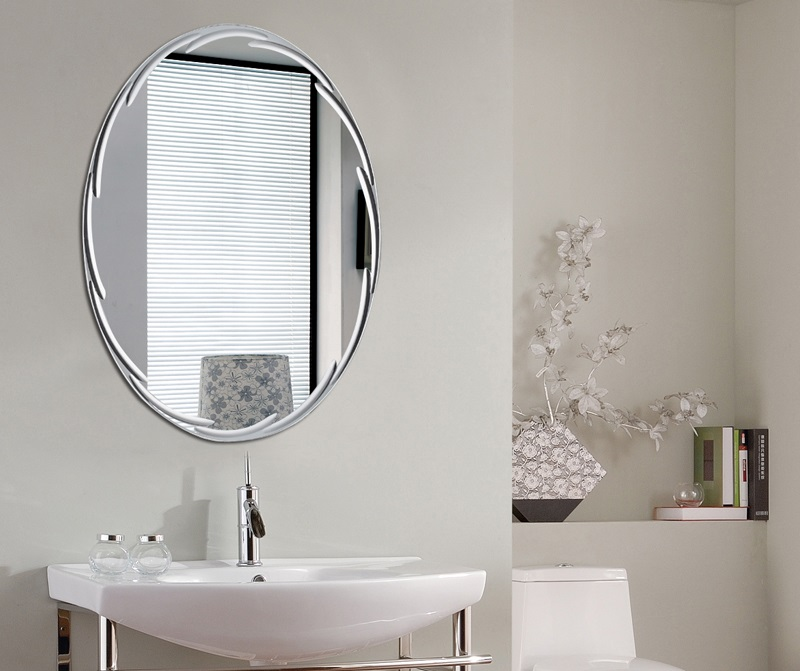 Pas cher en gros ovale sans cadre infinity fantaisie salle for Polissage aluminium miroir
