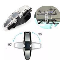 90 Degree Double Glasses Holder Pen Card Clip Fastener for Car Auto Sun Visor #75506