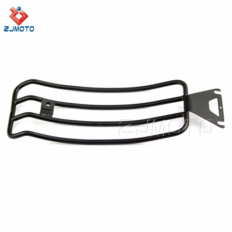 For HARLEY TOURING ROAD KING BAGGER stainless steel Silver Motorcycle Rear Luggage Carrier Rear Carrier Luggage Rack (4).jpg