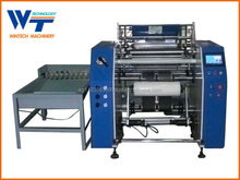 Fully automatic Stretch film rewinder and slitter