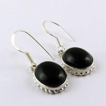 Dark Night !! Black Onyx 925 Sterling Silver Earring, Silver Jewelry, Handmade Silver Jewelry
