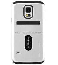phone case TPU PC Mercury iPocket Premium bumper case (Silver)