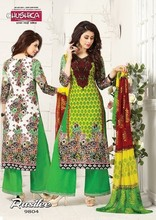 Indian women cotton fabric shalwar kameez dupatta ladies 3 piece suit