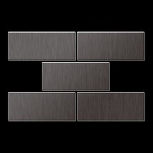 Mosaic massiv metal Titanium Smoke brushed dark grey 1,6mm thick Article Subway-Ti-SB Collection Subway by ALLOY