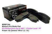Mastech Pro Brake Pad - Proton 12v [ Iswara / Wira1.3 / 1.5]