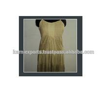 Nuevo largo de moda los vestidos para las damas / 100% algodón ocasional mirar vestidos para las damas
