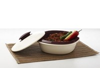 Ceramic insulated plastic casserole. cermaic hot pot with lid