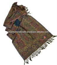 orgánica de lana bufanda chal en tradicional de diseño <span class=keywords><strong>paisley</strong></span>