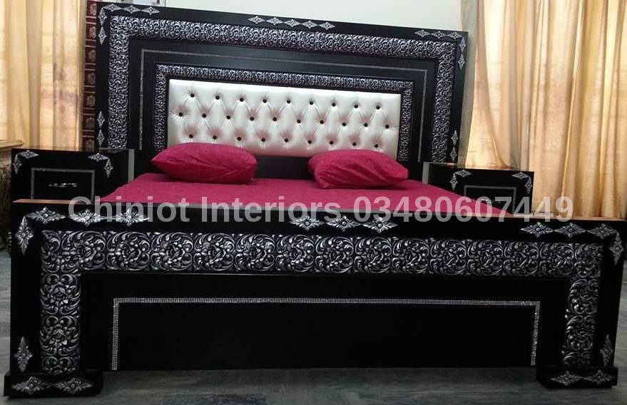 Royal poshish wooden bed set buy wooded bed set product for Bedroom furniture designs pictures in pakistan