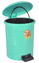 Plastic Step On Dustbin - 4321N Marble Green