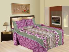 Luxury India Inspired Bedspread Set Zari Brocade Duvet Ethnic Bedroom bed sheet Green Polka Deep Fitted Sheet Set