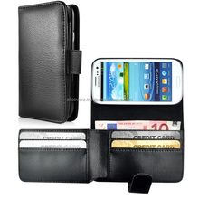 Litchi Grain Magnetic Wallet Style Case for Samsung Galaxy S3