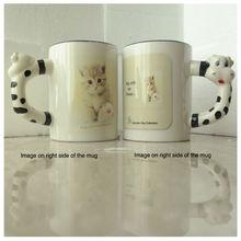GIFT - 11oz Ceramic Animal Mug with cute cate image