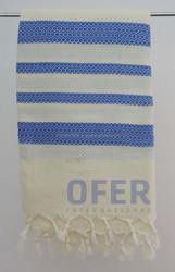 HONEYCOMB PESHTEMAL - (Blue color) Turkish hammam, pestemal towel Direct from Factory, Beach Sarong Pareo Fouta