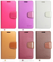 Sonata Wallet cases Leather flip with card slot cover cases drop resistance silicone soft inner cases for iphone 6 6 plus