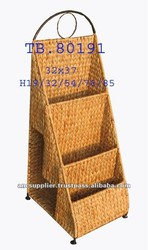 Handle Water Hyacinth Magazine And File Holder