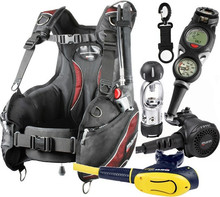Mares F-Light BCD Scuba Gear Package