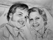 Valentine Day Couple Art Portrait Painting and Drawing Services