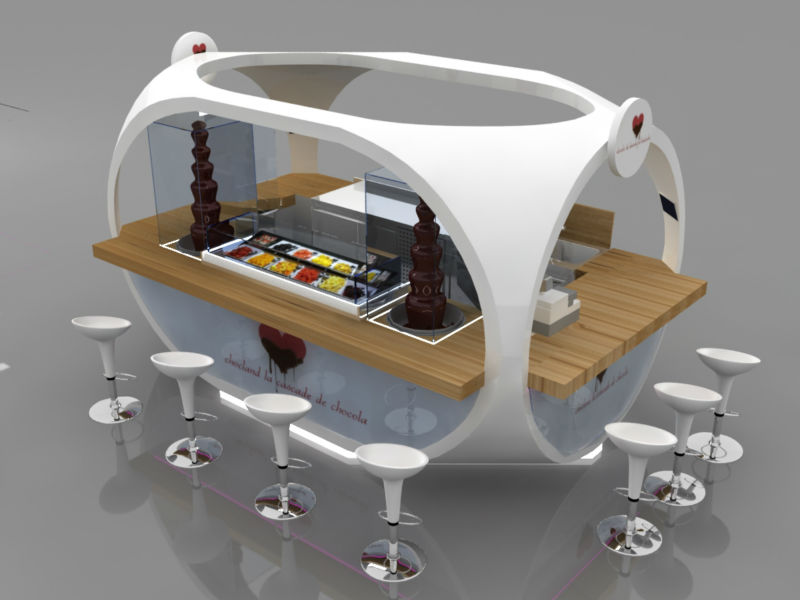 Pin food kiosk design on pinterest for Indoor food kiosk design