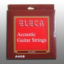 Eleca Acoustic Guitar String, 11 Gauge Extra Light, Pack, A408