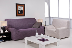 Colorful and High quality l shape sofa cover SPAIN for household use , rug mat also available