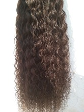 Human hair extensions Mongolian wet and wavy hair