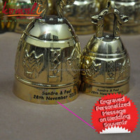 Personalized Brass Thai Temple Bells - Custom Made Brass Temple Bell - High Polished Brass Bells - souvenir wedding