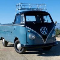 VW BUS 1962 DELUXE SINGLE CAB