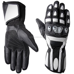Best Quality Motorbike Gloves, Leather Motorbike Racing Gloves, Motorcycle Gloves, Motorbike Black & White Gloves 100% Material