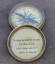 classy Vintage & shiny brass adventure compass