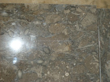 big projects used honed surface fossil brown artificial marble