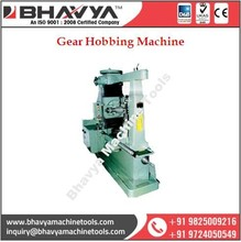 Compact Designed Gear Hobbing Machine For Flexible and Hassle Free Work