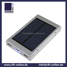 2015 Solar mobile phone charger 6000mah for iPad and smartphones by best quality power bank fatory