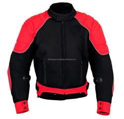 Cordura Motorcycle New Summer Jacket, 600D Cordura New Flash Gear Textile Men Motorbike Windproof Jacket Red