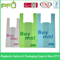 HDPE Biodegradable Recycled T-Shirt Shopping Soft loop Bultic Vest Handle Bag
