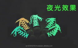 Best Selling Fashion Funny luminous multicolor flat shoelace wholesale for Party, Show, Holiday