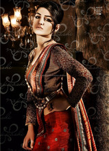 Maroon color with Maroon tissue border with silver kudan flower putta all over Net Fall of Desire Designer Sarees