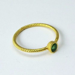 Heavenly !! Oval Shape Emerald Gold Polish 925 Sterling Silver Ring, Online Silver Jewelry, Indian Fashion Silver Jewelry