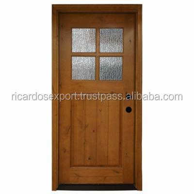 Cottage single front door natural wooden door apartments for Cheap wooden front doors