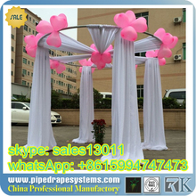 fireproof and flexible Specialized Aluminum Pipe and Drape for Wedding/beautiful pipe and drape/pipe and drape stand