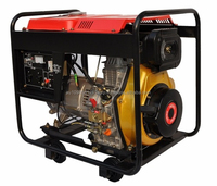 Diesel generator 5 KVA 230v Runsun Open Type Air Cooled Portable Diesel Generator with Electric Start
