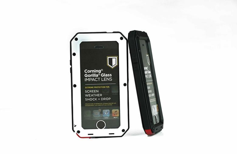 Waterproof Shockproof Metal Aluminum Gorilla Cover Case for iPhone 5 5S