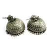 India Made Jhumka Oxidized Plain Silver Engraved 925 Sterling Silver Earring, Indian Silver Jewelry, Silver Jewelry Supplier
