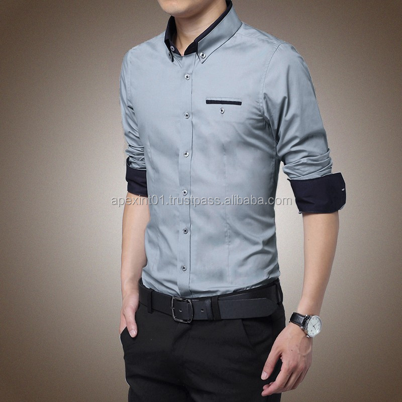 2015 wholesale latest shirt designs for men wholesale mens