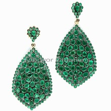 925 Sterling Silver Color Stone Earring, Latest Model Fashion Earrings Color Stone Earring
