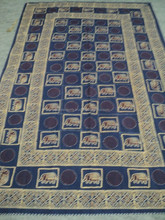 New Blue color patttern hand-block design printed bed-sheets / Hand quilted Bed-sheets & bed-spread 100% cotton