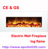 "White 50"" Wall-mounted Electric Fireplace with heaters Log Flame"