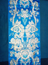 2518 BLUE \ GOLD COLOR High Quality Brocade fabrics for making dress and garments, Priest Vestment Fabric