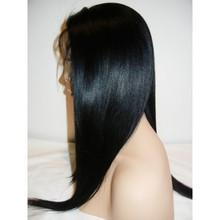 "12"" Kinky Straight Off Black Brazilian Full Lace Wig"