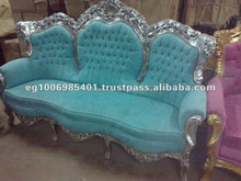 Baroque style velvet sofa bed